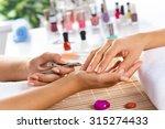 woman in salon receiving... | Shutterstock . vector #315274433