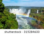 Iguazu Falls  On The Border Of...