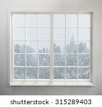 modern residential window with... | Shutterstock . vector #315289403