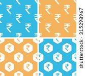 indian rupee pattern set ...