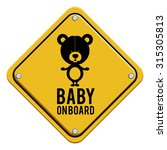 yellow square baby  on board... | Shutterstock .eps vector #315305813