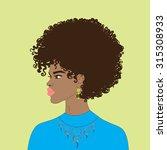 beautiful african american... | Shutterstock .eps vector #315308933