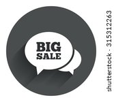 chat big sale sign icon....