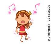 girl dancing  vector...