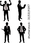 four businessman wearing suits... | Shutterstock .eps vector #315319397