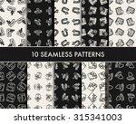 doodle logistics icons | Shutterstock .eps vector #315341003