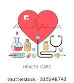 medicine background with the... | Shutterstock . vector #315348743