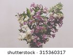 vase with beautiful bouquet of... | Shutterstock . vector #315360317