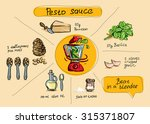 step by step cooking  drawing... | Shutterstock .eps vector #315371807