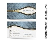 business card template with... | Shutterstock .eps vector #315383393