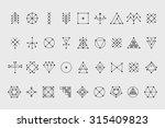 set of geometric shapes. trendy ... | Shutterstock .eps vector #315409823