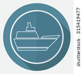 ship icon | Shutterstock .eps vector #315419477