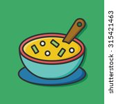 soup icon   Shutterstock .eps vector #315421463