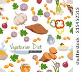 various vegetables icons set... | Shutterstock .eps vector #315452513