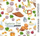 various vegetables icons set... | Shutterstock .eps vector #315452513