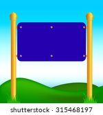 designer label signposts blank... | Shutterstock .eps vector #315468197