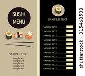 sushi menu with sushi roll....   Shutterstock .eps vector #315468533