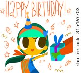 happy birthday postcard with...