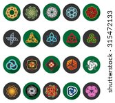 celtic icons set in flat design ... | Shutterstock .eps vector #315472133