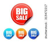 big sale round stickers | Shutterstock .eps vector #315472217