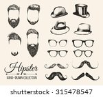 hipster hair  beards  mustaches ... | Shutterstock .eps vector #315478547