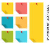 flat design of colorful pinned... | Shutterstock .eps vector #315485333