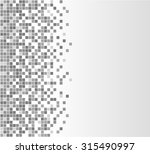illustration of gray pixels... | Shutterstock .eps vector #315490997