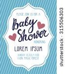 baby shower invitation card.... | Shutterstock .eps vector #315506303