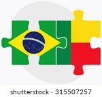 brazil and benin flags in... | Shutterstock .eps vector #315507257