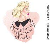 fashion background illustration ... | Shutterstock . vector #315507287
