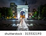 The Washington Arch At Night ...