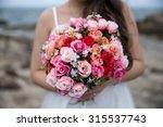 a  beautiful rose bouquet in... | Shutterstock . vector #315537743
