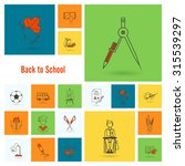 school and education icon set.... | Shutterstock . vector #315539297