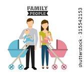 family people design  vector... | Shutterstock .eps vector #315542153
