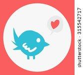 cartoon flat simple bird mascot ...
