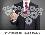businessman with gears  concept ...   Shutterstock . vector #315550373