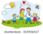 happy family | Shutterstock .eps vector #315556517