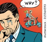 a man weeps love breakup... | Shutterstock . vector #315564593