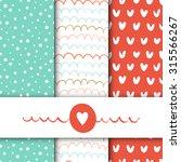 set of vector seamless patterns.... | Shutterstock .eps vector #315566267