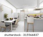 yellow modern kitchen interior...   Shutterstock . vector #315566837