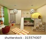 rendering   children room with... | Shutterstock . vector #315574307