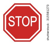 stop sign icon | Shutterstock . vector #315581273