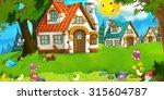 cartoon scene for fairy tales   ...   Shutterstock . vector #315604787