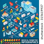 medical infographics set with... | Shutterstock . vector #315619937