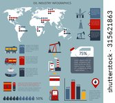 oil industry infographics set... | Shutterstock . vector #315621863