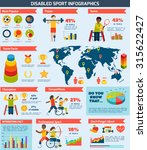 disabled sports infographics... | Shutterstock . vector #315622427