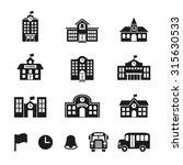 school building. flat icon.... | Shutterstock .eps vector #315630533
