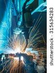 robot welding movement... | Shutterstock . vector #315634283