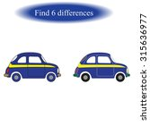 find differences   car   | Shutterstock .eps vector #315636977