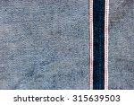 raw denim jeans red selvedge... | Shutterstock . vector #315639503